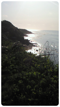 View from the steep cliff
